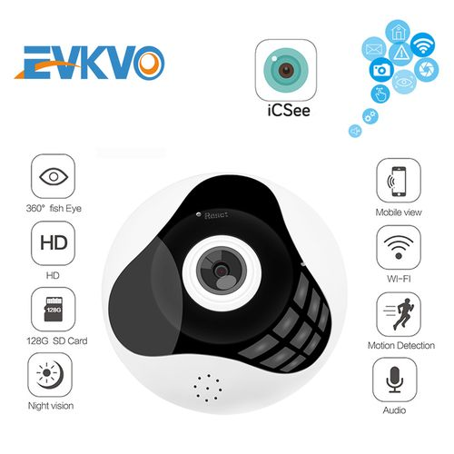 Fisheye VR 360° Panoramic 1080P Wifi IP Camera Night Vision