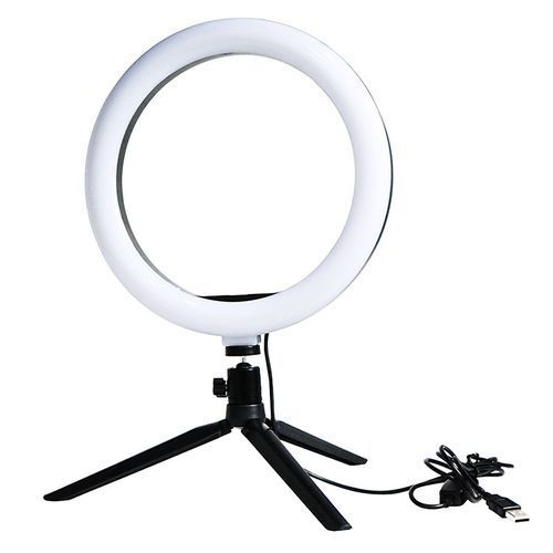Ring Light With Tripod Stand, Yeldou Dimmable Desktop LED