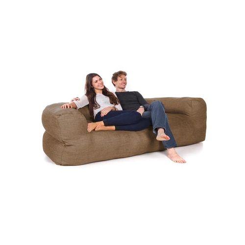 3 Seater Bean Bag Sofa - Brown