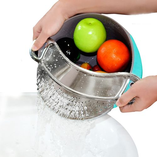 New Kitchen Extras Stainless Steel Strainer Clip Colander