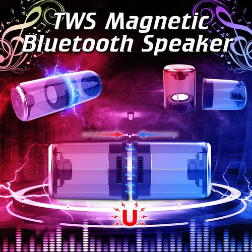 """2""""1 Portable Magnetic Outdoor Bluetooth V4.2 Loud Speaker Stereo Bass Subwoofer"""
