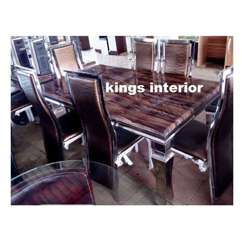 Exclusive Marble Dinning With 6 Chairs