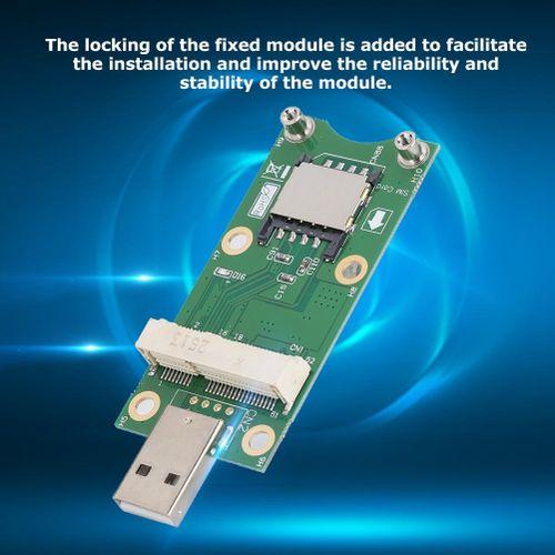 Fosa Mini WWAN Test Converter Card PCI-E To USB With SIM Card Test Adapter 3G/4G Module Development Board With 4 Screw Holes For Phone 3G Module