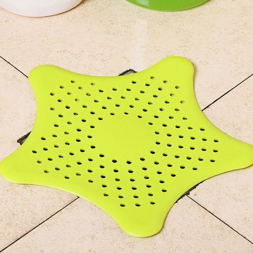 MT Creative Kitchen/Bathroom Sink Drain Anti-Clogging Starfish Shape Sewer Filter-green