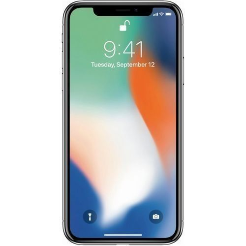 IPhone X 5.8-Inches Super AMOLED (3GB RAM, 64GB ROM) IOS 11.1.1, (12MP + 12MP) + 7MP 4G LTE Smartphone - Silver