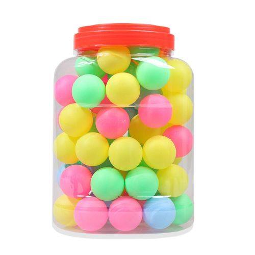 Color Table Tennis Ball Lottery Draw Decoration Toy 60Pcs Multicolor