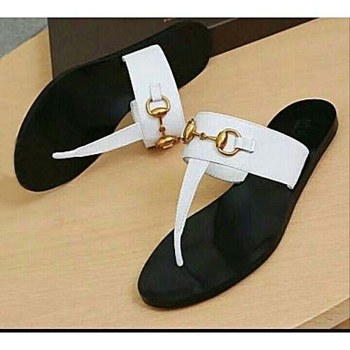 Women Exquisite Slay White And Black Slippers