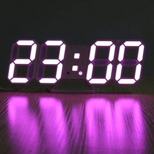 3D LED Digital Wall Clock Date Time Temperature Display Auto Desktop USB