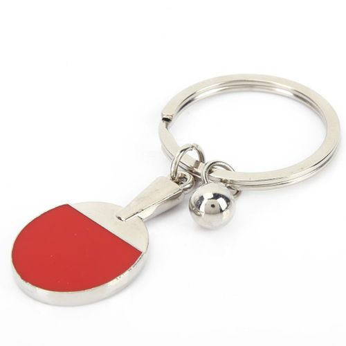 Metal Ping-Pong Bats Keychain For Souvenir, Gift, Decoration