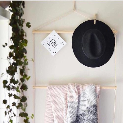 Ins New Nordic Style Simple Solid Wood Hat Rack Bookshelf The Children's Room Clothes Shop Cloakroom