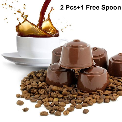 8 SET Refillable Reusable Coffee Capsules Pods Filter