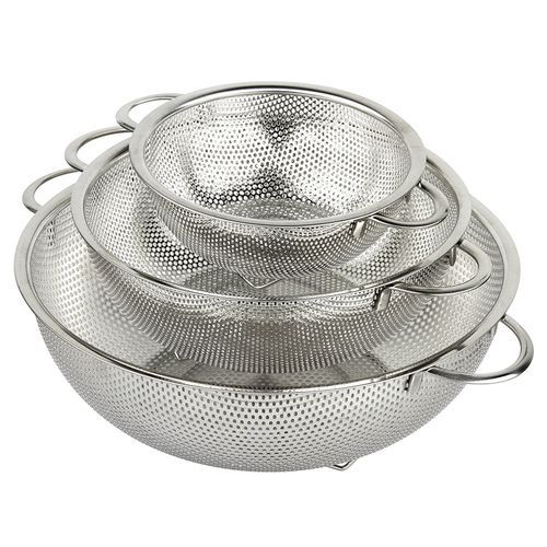 3pcs Stainless Steel Collander Bowl