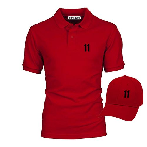 11 Polo & Cap Bundle - Red, Red