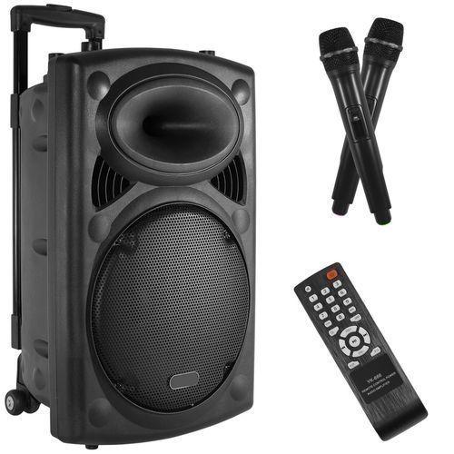 1200W BLUETOOTH Portable PARTY PA DJ SPEAKER SYSTEM + FREE MIC