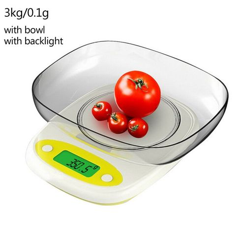 7kg/3kg 0.1/1g Kitchen Scales 3 Style High Precision LCD Digital Display Mini Scale Gram Weighing Scale For Kitchen Food Jewelry(3kg-0.1g Bowl Light)