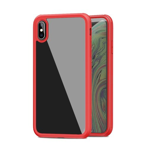 For IPhone XS / X TPU + Glass Protective Case(Red)