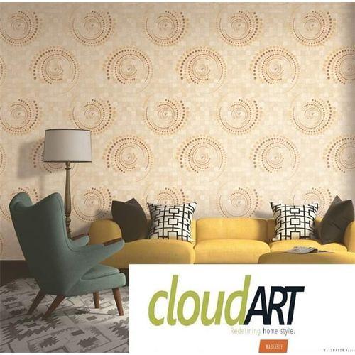 Cream Patterned 3d Wallpaper