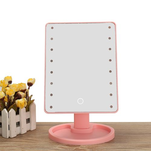 22 LED Lights Vanity Makeup Mirror Touch Screen Lighted Tabletop Cosmetic Mirror
