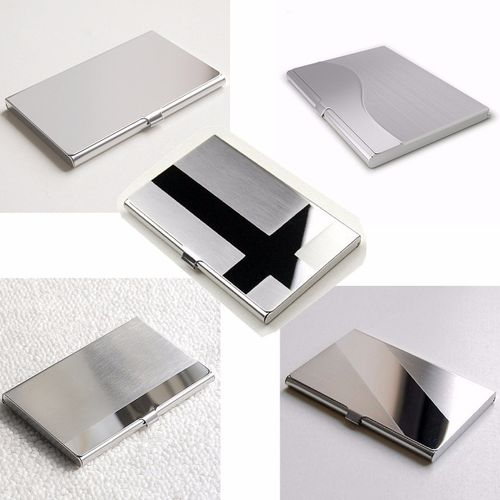 Stainless Steel Business ID Credit Card Holder Name Card Wallet Metal Pocket Box Case Holder