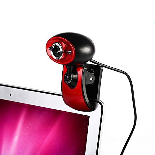 Sedectres 2 LED USB 2.0 HD Webcam Camera Web Cam With Microphone Mic For PC Laptop RD-Red