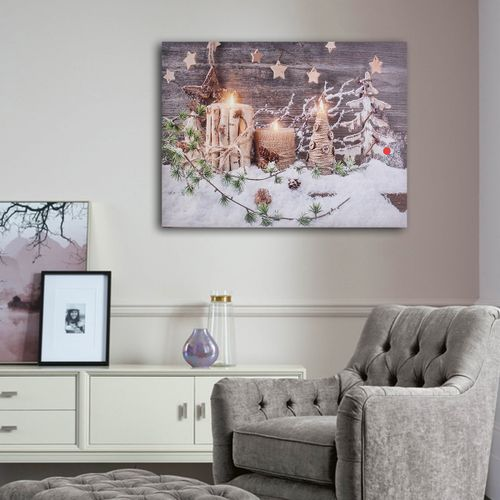 Christmas Decoration Light LED Canvas Wall Art Picture