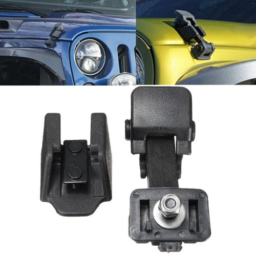 1 Pair Replacement Hood Catch & Bracket Latch Buckle For 2007-2016 Jeep