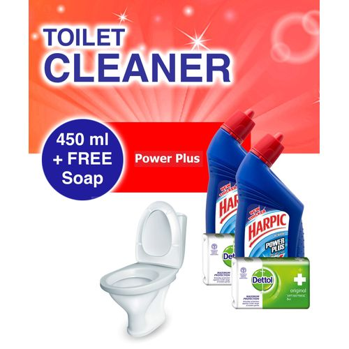 Toilet Cleaner: Power Plus - 450ml +FREE Soap - Pack Of 2