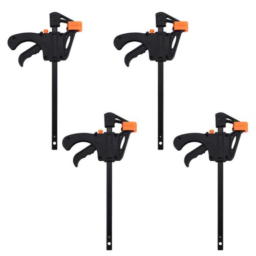 4pcs 4inch Bar F Clamps Clip Grip Quick Ratchet Release Woodworking DIY Hand Tool Kit