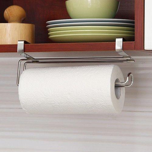 Shinewerop 2017 Paper Roll Towel Holder Stainless Steel Racks Under Cabinet Door Drawer