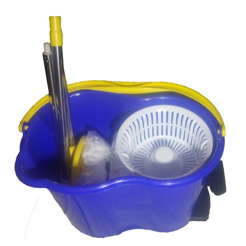 Magic Auto-swivel Mop Set With Foldable Handle And 2 Microfibre Mop Head - Mop N Roll