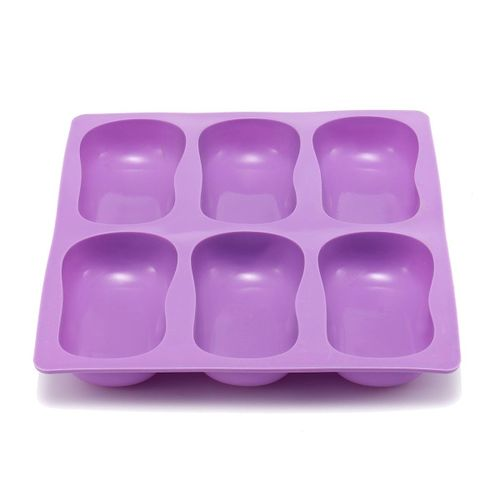 Oval Cake Mold Soap Mold Silicone Mould For Candy Ice Lattice Ice Tray