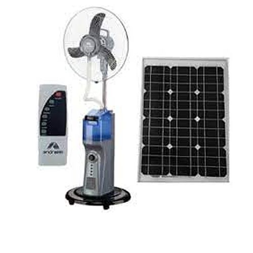 RECHARGEABLE MIST FAN WITH REMOTE+SOLAR PORT/USB PORT+FREE USB CABLE