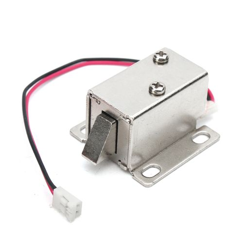 12V,0.43A Electronic Lock Catch Door Gate Electric Release Assembly Solenoid