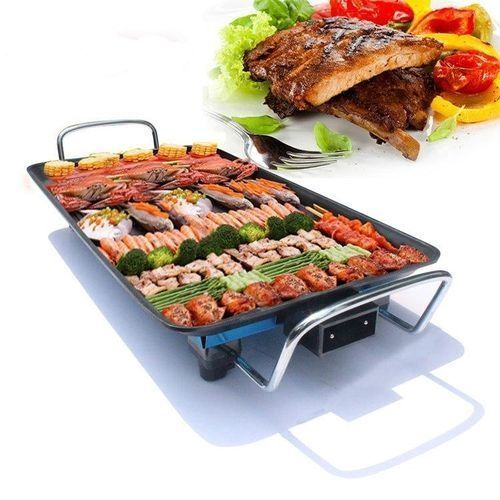 Electric BBQ Grill Smokeless Non-stick Hot Plate Griller