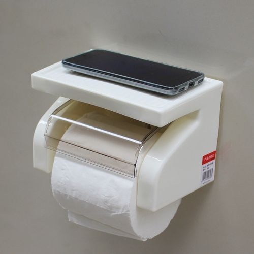 Toilet Roll Tissue Paper Toilet Paper Holder - White