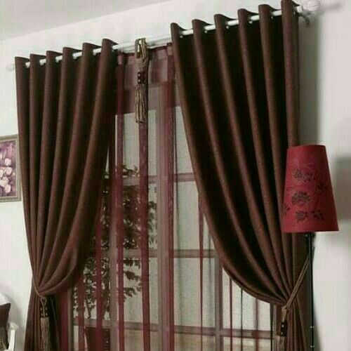 7.5ft. By 7.5ft. High Quality Silver-Brown Plain Curtain