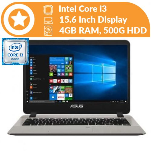 X543UA Intel Core I3 4GB RAM 500GB HDD 15.6-inch HDD Win10