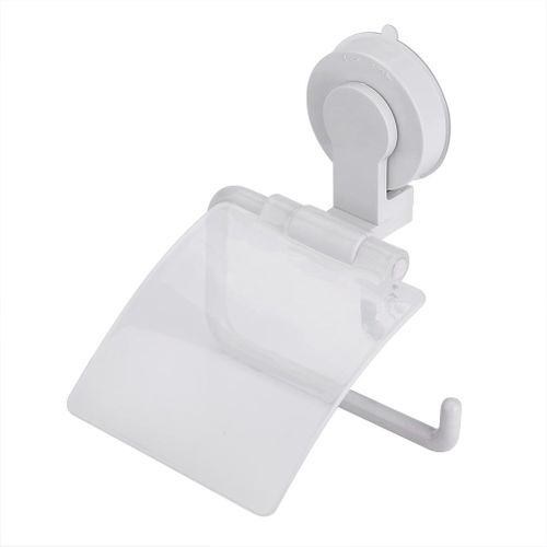 Waterproof Plastic Toilet Paper Holder Suction Cup Universal Bathroom Roll Paper Storage Rack
