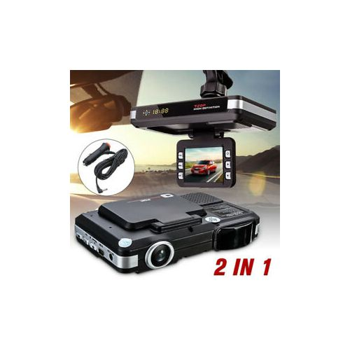 2in1 Camera HD Car DVR Vehicle Video Dash Cam Recorder G-Sensor + Radar Detector
