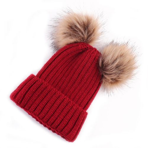 Newborn Cute Fashion Keep Warm Winter Hats Knitted Wool Hemming Hat