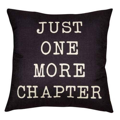 Dtrestocy Just One More Chapter Home Decorative Throw Pillow Case Cushion Cover For Sofa