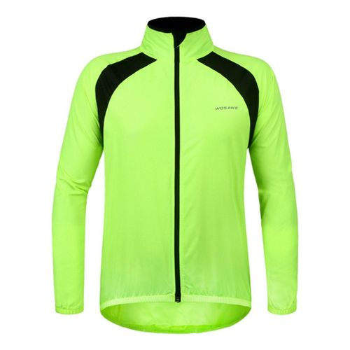 Waterproof Unisex Bicycle Cycling Sports Jacket Breathable Reflective Clothing Fluorescent Green