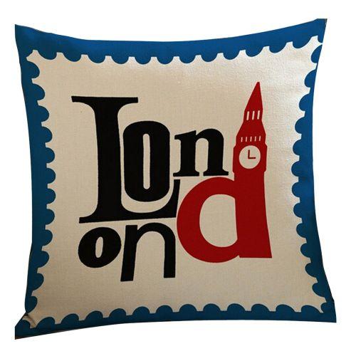 Houseworkhu New Cotton Linen Pillow Case Sofa Waist Throw Cushion Cover Home Decor White -White