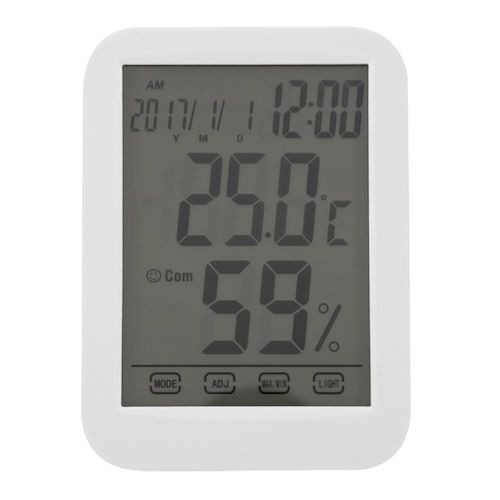 Digital Mini Instant Read Temperature Touch Screen Clock Temperature And Humidity Meter Thermometer Digital Thermometer Digital Hygrometer For Home Office Gymnasium Kitchen Etc
