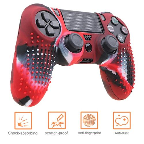 Anti-slip Silicone Cover Skin Case For PS4 Pad Controller