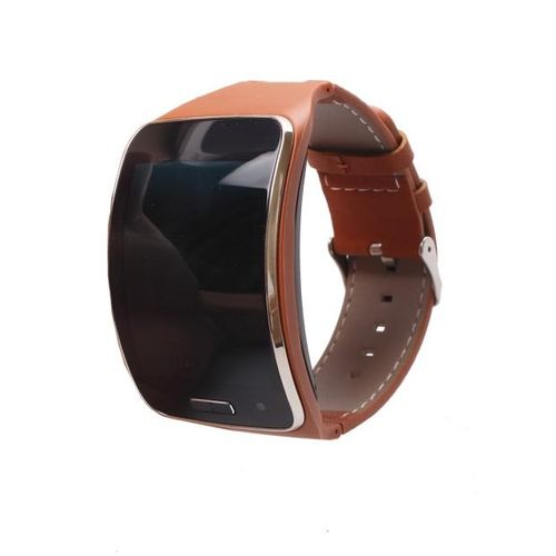 Spacesulo Genuine Leather Watch Wrist Strap Band For Samsung Gear S SM-R750 Smart BW