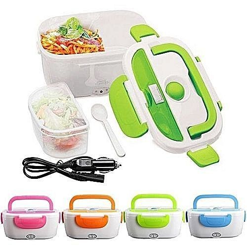 4 IN 1 Electric Lunch Box / Food Flask- Blue, Green,Orange, Pink.