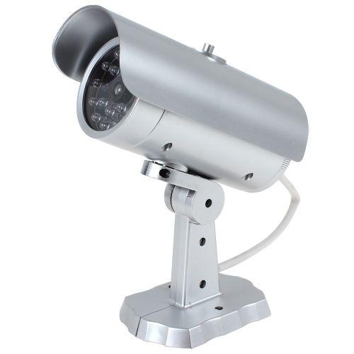 False IR LEDs Emulational Faux Decoy Dummy CCTV Camera With Red Blinking LED Light