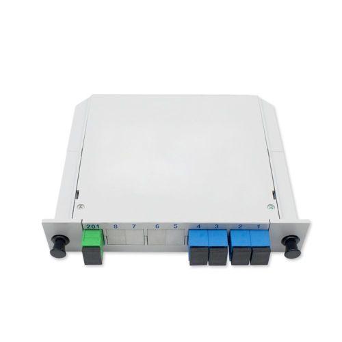 Insert Type Plc Optical Splitter Quarter Light Sc Port 1 To 4 Fiber White