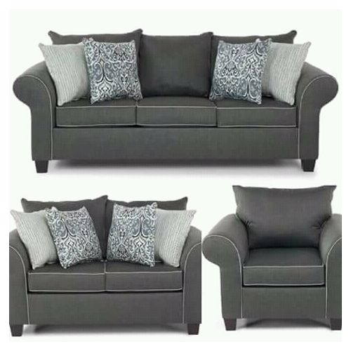 PAWA FURNITURE NEW GRAY 7 SEATER SOFA. 'ORDER NOW AND GET A FREE OTTOMAN' (Delivery To Lagos Only)
